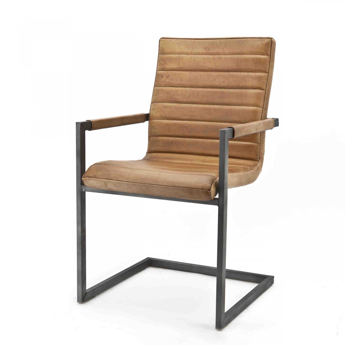 Swan-armstoel-armchair-leder-cognac