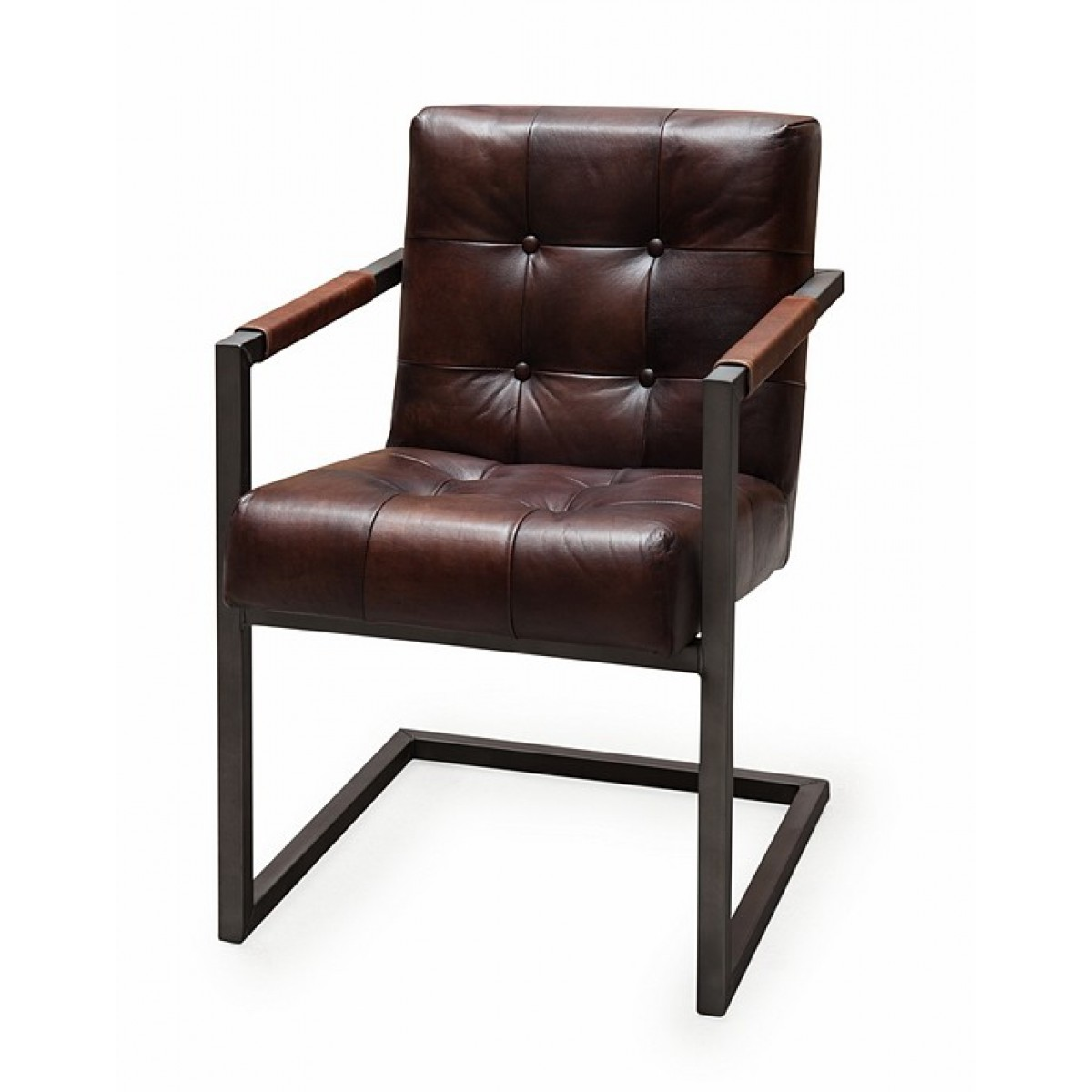 armstoel_buffel_leer_leder_batse_badsal_brown_captions_armchair_induchair