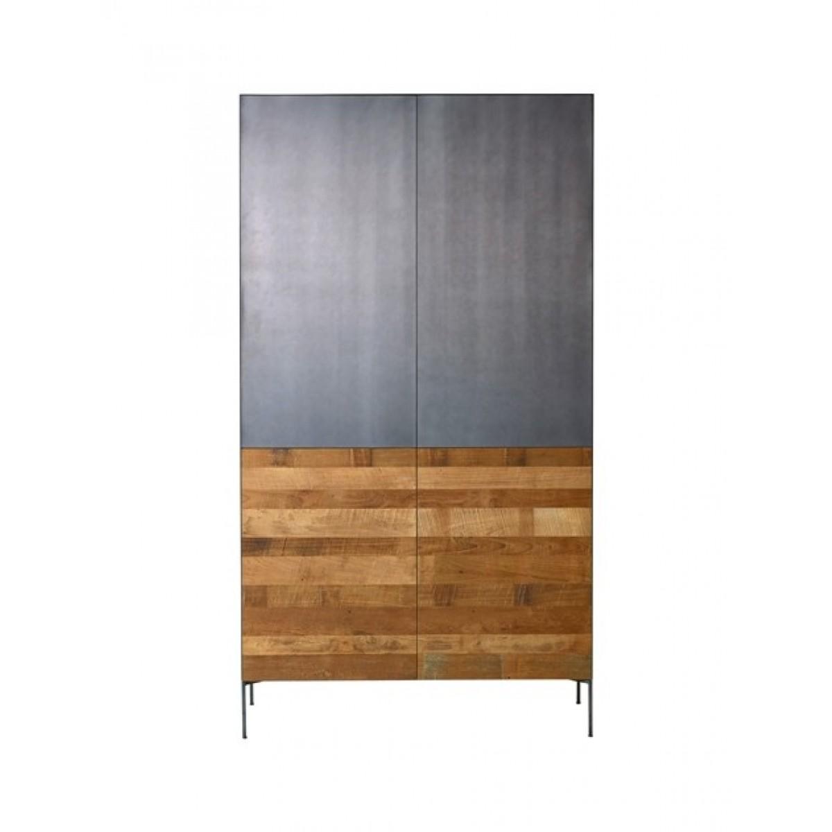 pandora-bergkast-4-deuren-metaal-teak