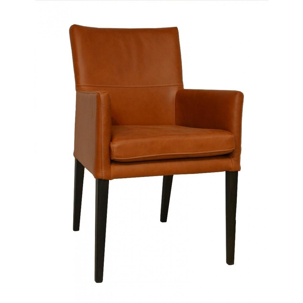 caprice_armstoel_he_design_houten_poot_zwart_rancho_leder_leer_cognac