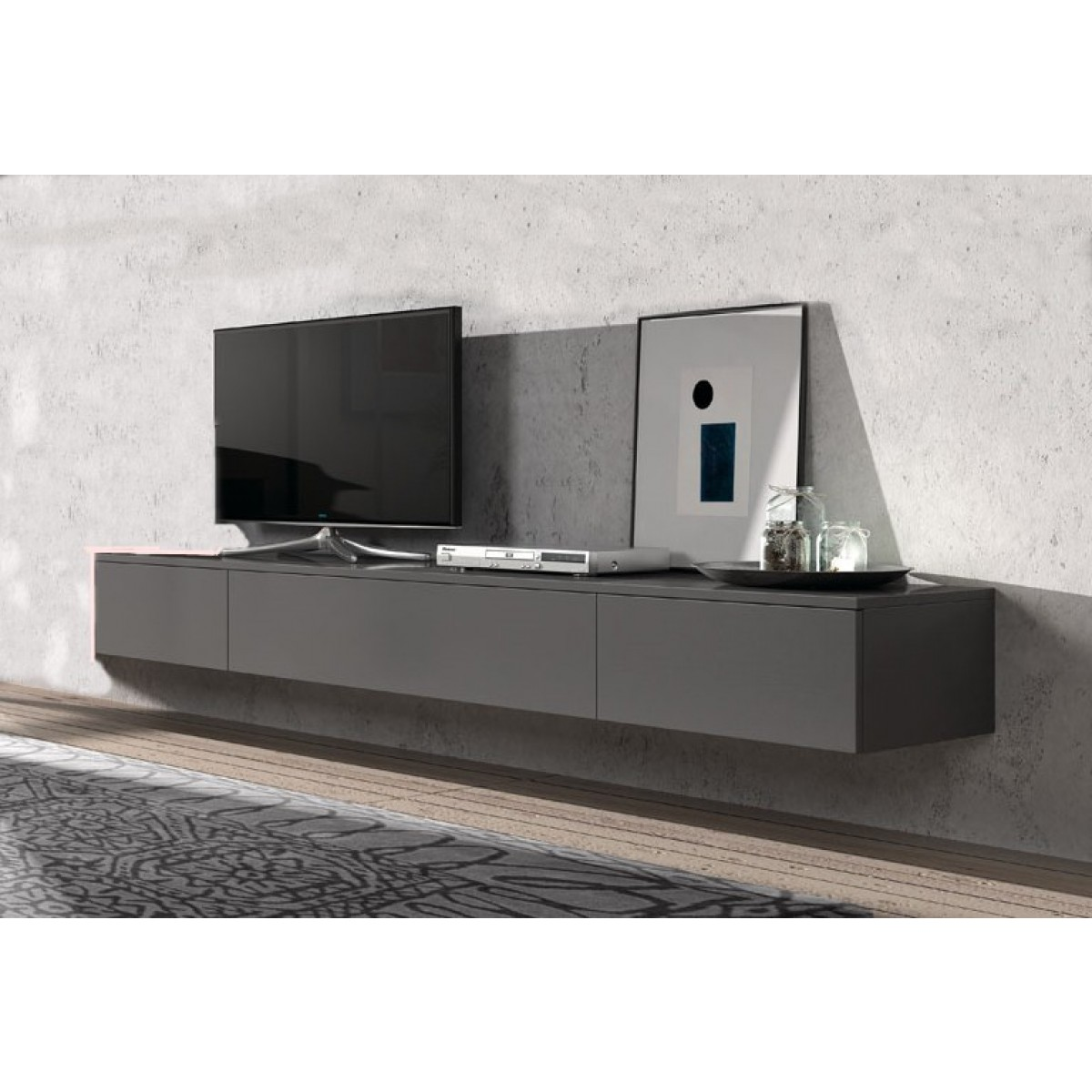 Tv Meubel Hangend.Hang Tv Dressoir Swift 221 Cm I Live Design