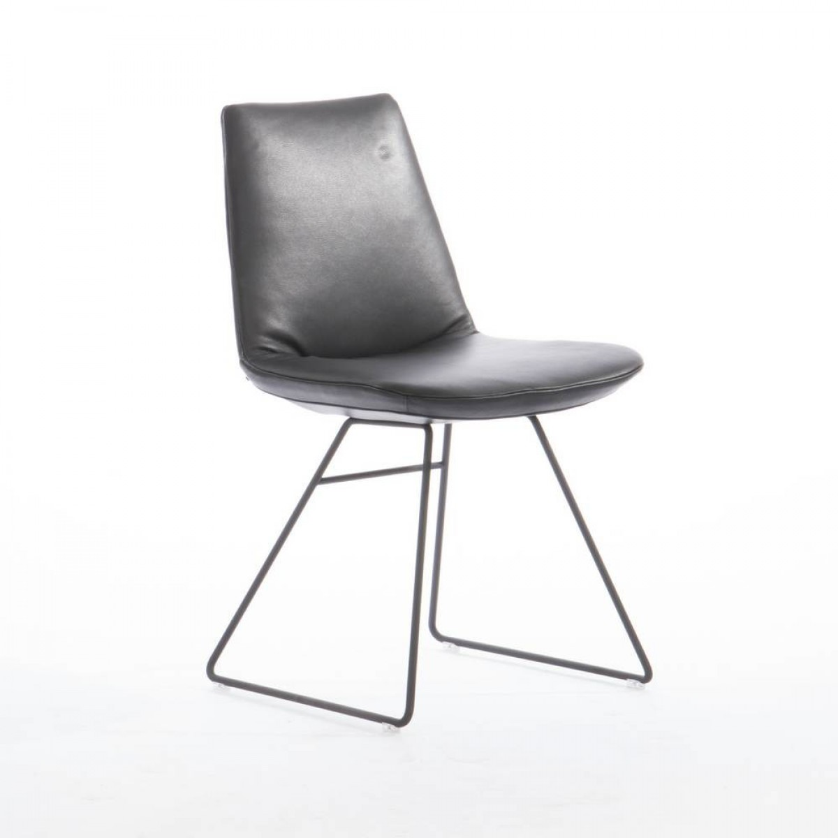 hester-design-stoel-slede-frame-leer-zwart-miltonhouse