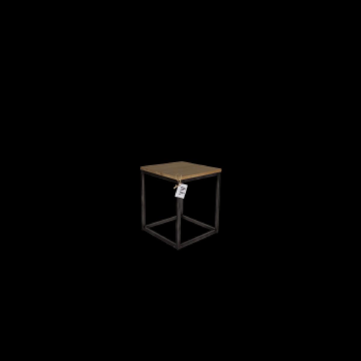 metaalframe-eiken-blad-kruk-bijzettafel