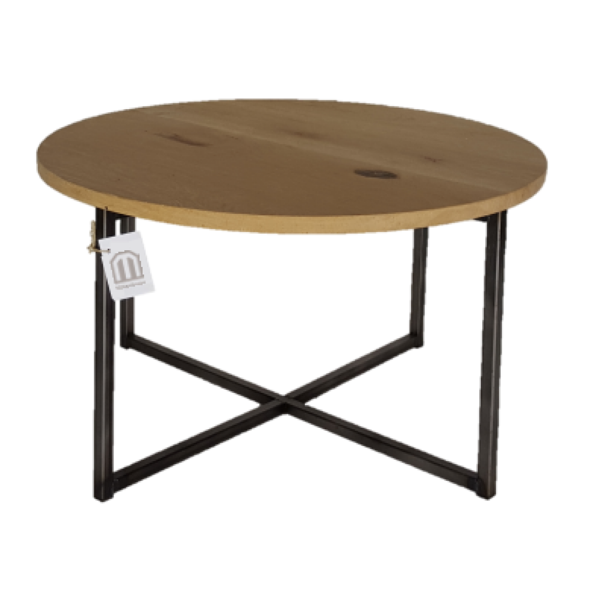 Ronde salontafel metaalframe eiken blad i live design for Salontafel rond design