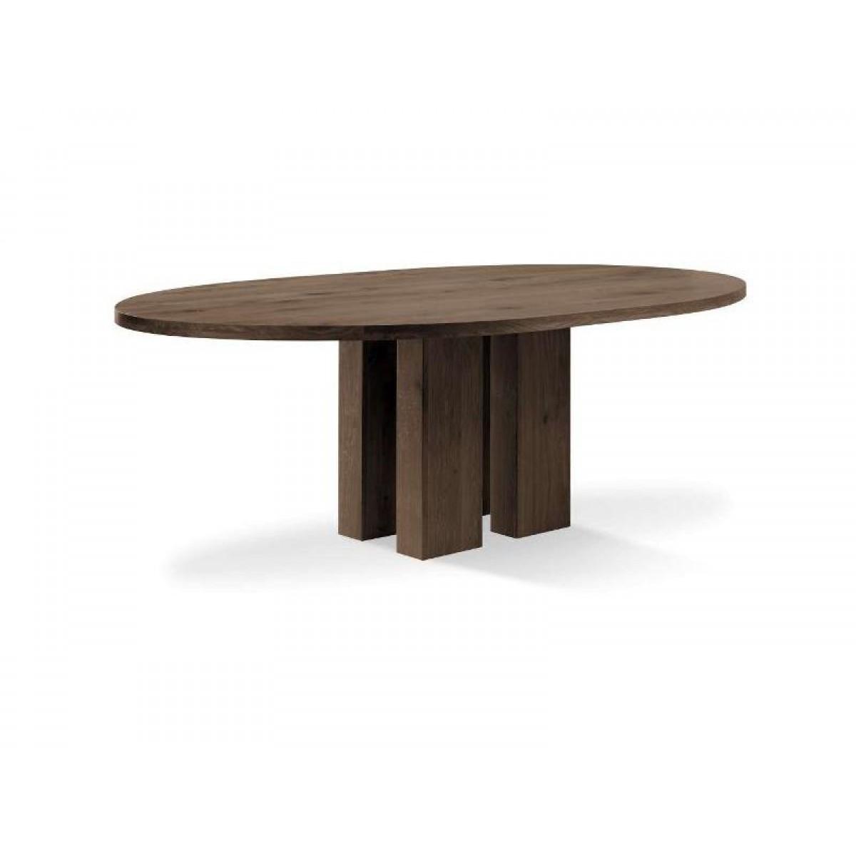 Ovaal eettafel eiken i live design for Design tafel ovaal
