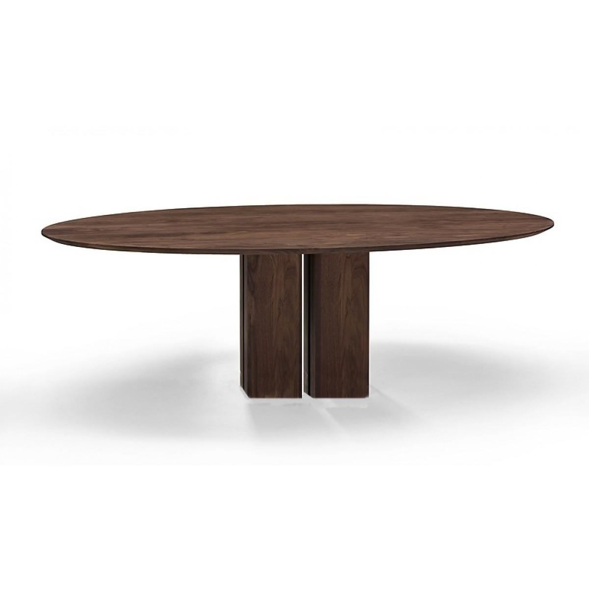 ovaal-ovale-tafel-eettafel-eetkamertafel-eiken-kolompoot-verjond-blad