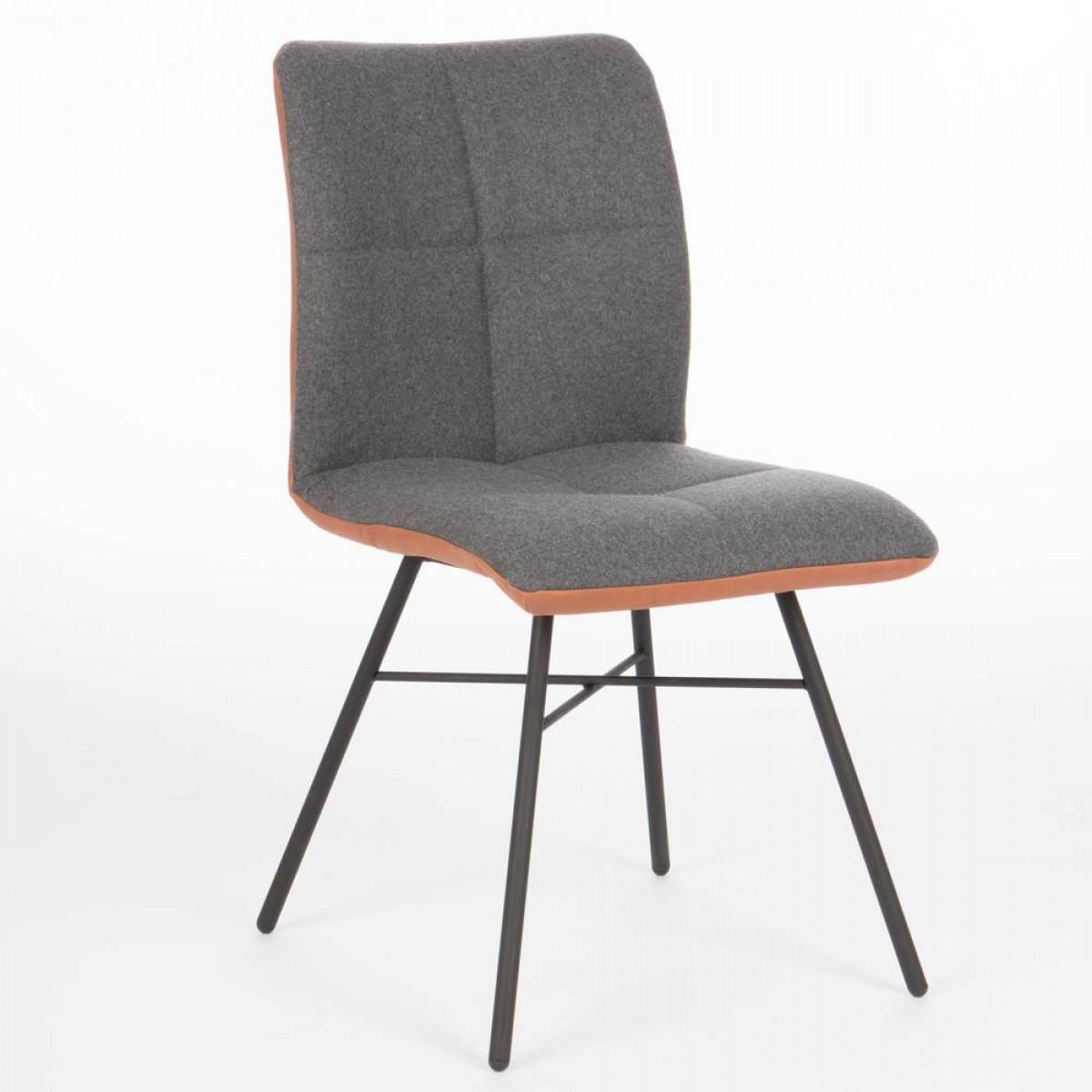 pepitto-stoel-stof-leer-combinatie-miltonhouse-spinpoot-zwart