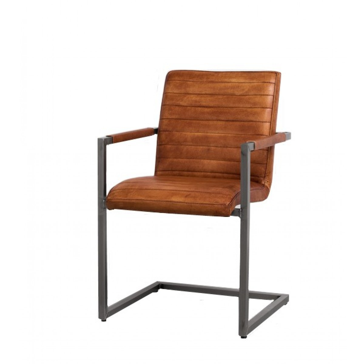 sabine-armstoel-stuhl-mit-lehnen-buffel-leer-cognac-metaal-frame