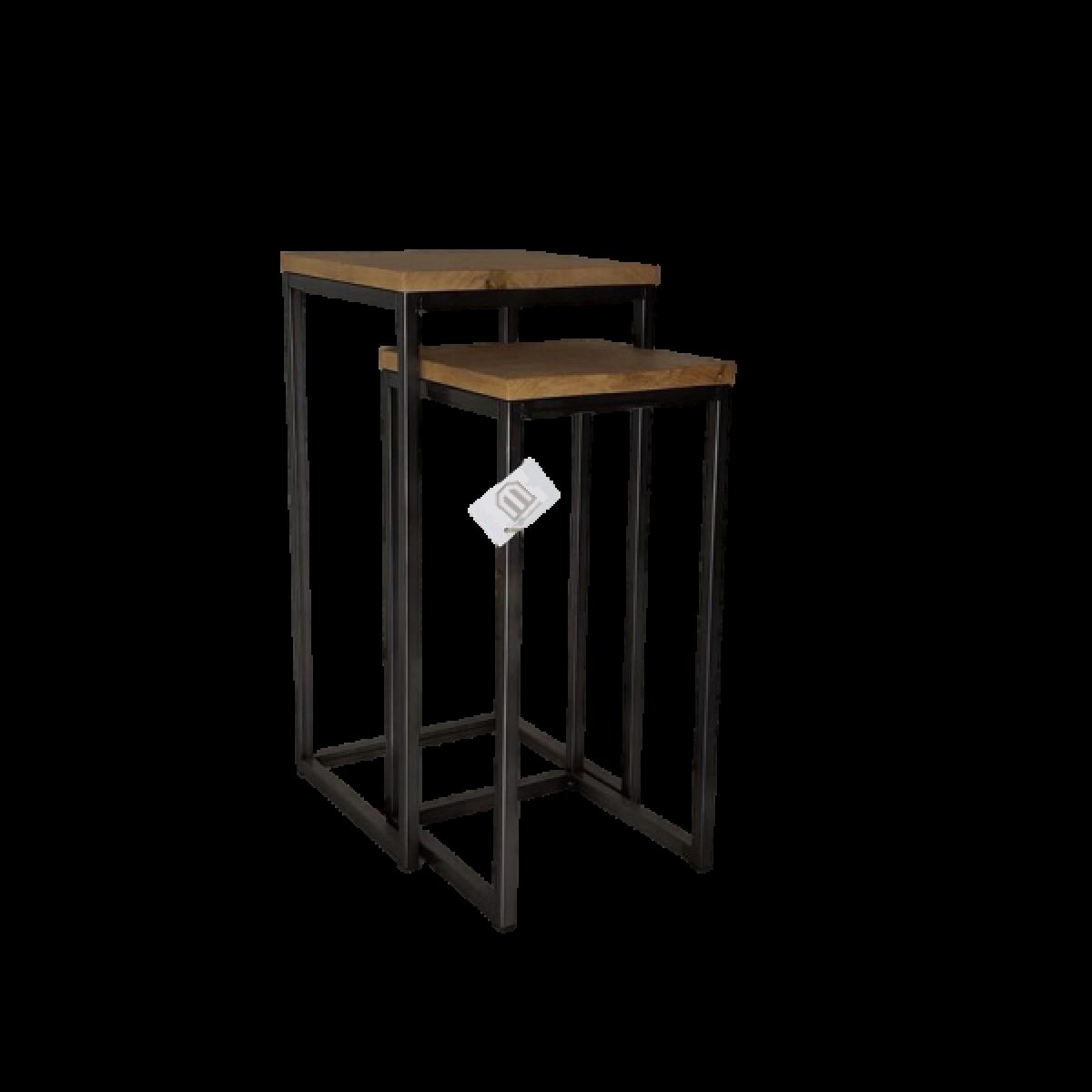 plantentafel-kolom-set-van-2-metaalframe-eiken-blad
