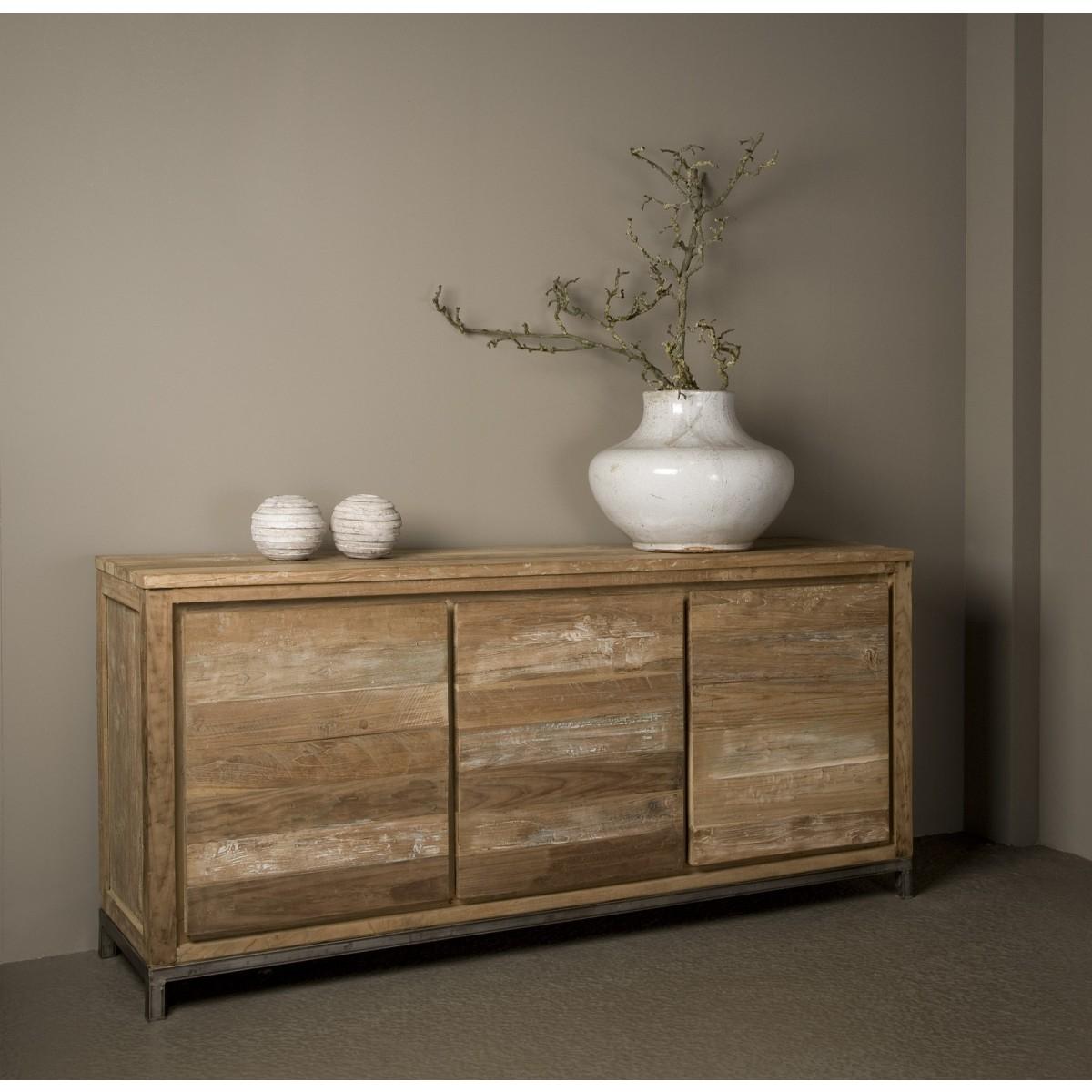 venetië-dressoir-recycled-teak-vintage-white-wash-metaal-pootstel
