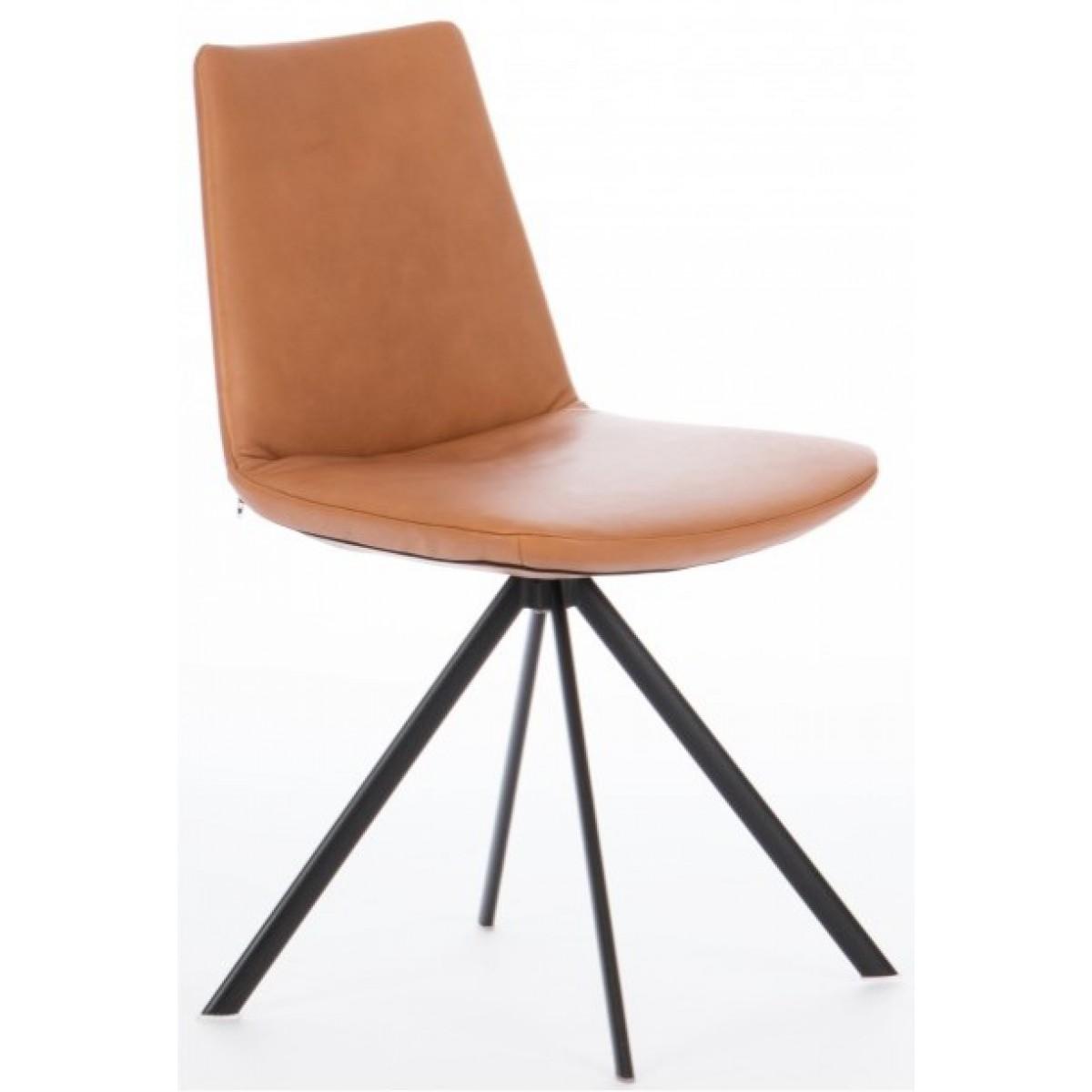sheriff-stoel-draaibaar-leer-zwart-frame-elips