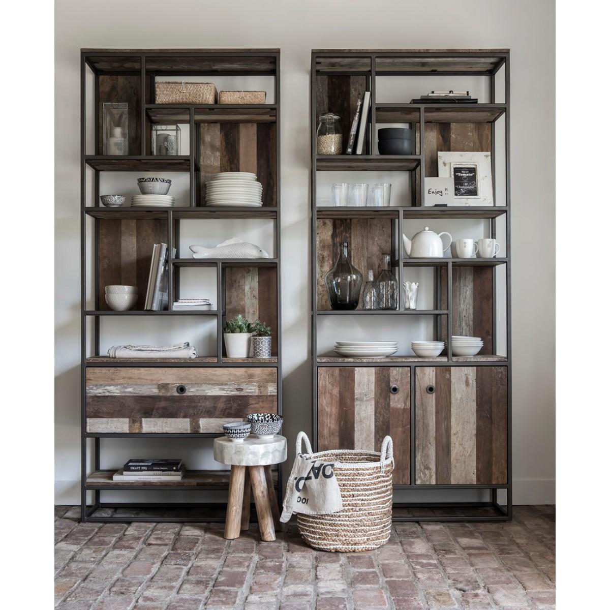 taureg-boekenkast-2-deuren-open-vakken-215x90x35-cm-miltonhouse3