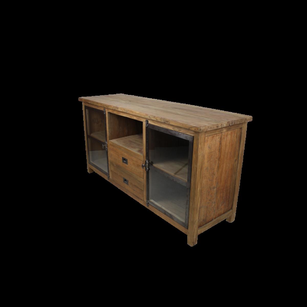 tv-meubel-dingklik-teakhout-metaal-glas-KA-TD160D1