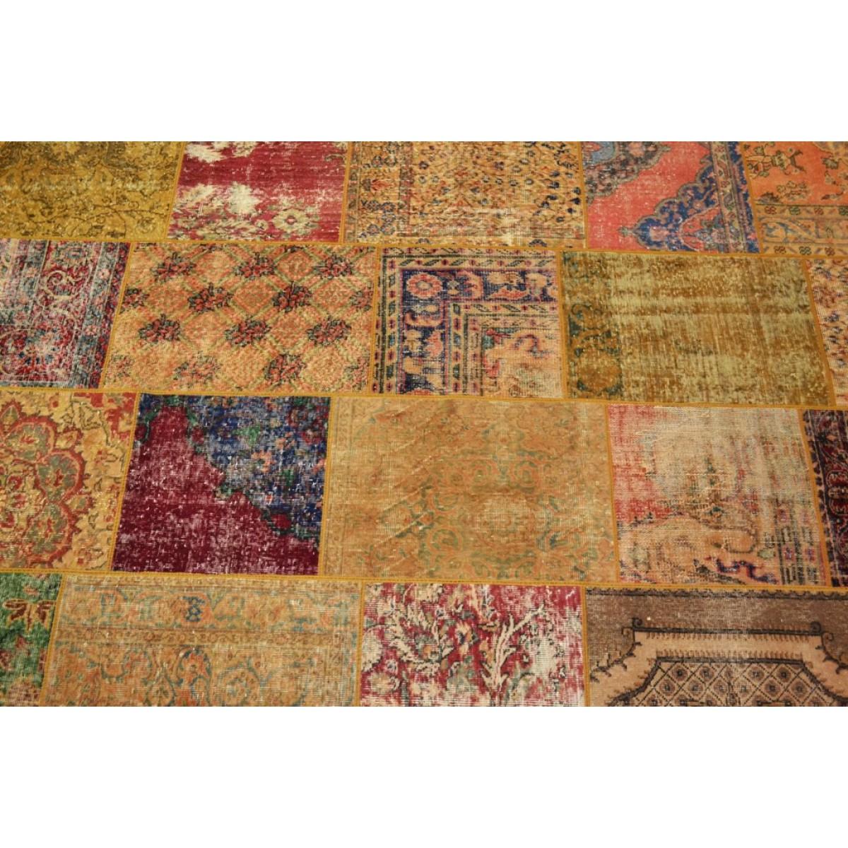 vintage_rustic_patchwork_karpet_vloerkleed_brinker_carpets_detail