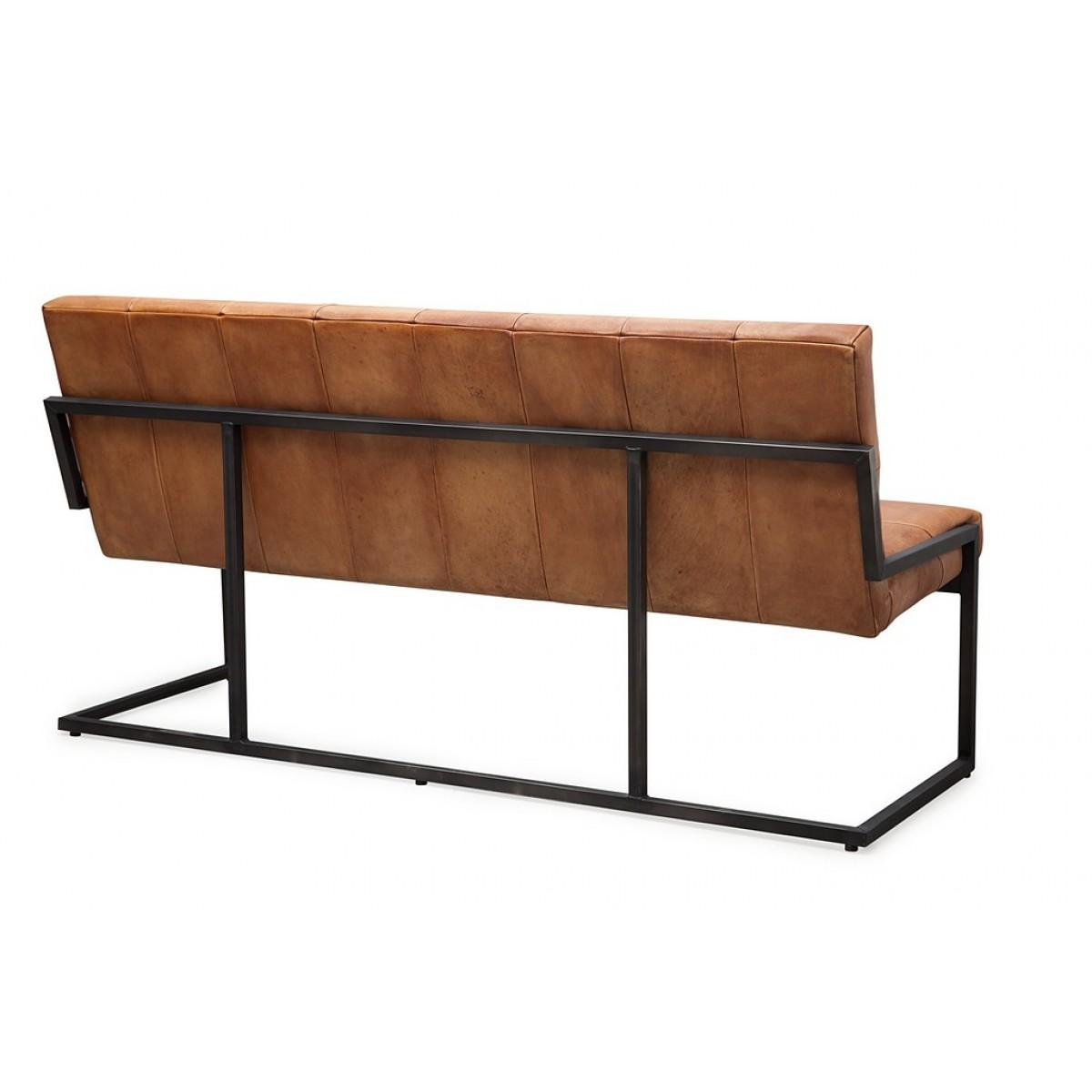 zitbank_bench_calabro_caballero_buffel_leer_metalen_frame_back