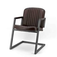 Zagreb-armstoel-armchair-rosi-leer-leder-donkerbruin
