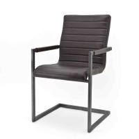 Swan-armstoel-armchair-leer-leder-donkerbruin