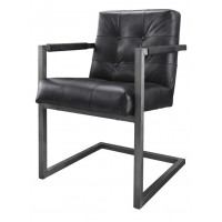 armstoel_buffel_leer_leder_batse_badsal_black_washed_captions_armchair_induchair