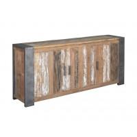 PF0010-dressoir-sidebaord-4-deuren-teak-hout-recycled-metalen-poot