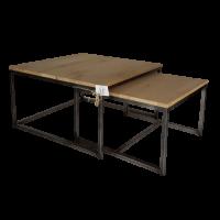 salontafel-set-van-2-metaalframe-eiken-blad-75x75-60x60-cm-gerookt