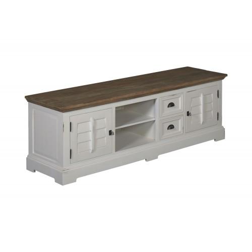 venetië-tvdressoir-180cm-recycled-teak-vintage-white-wash-metaal-pootstel-detail