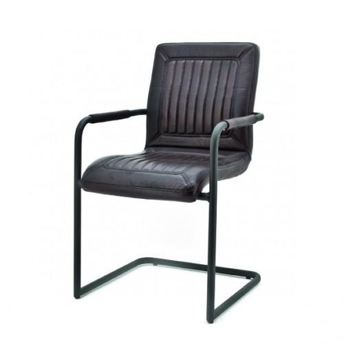 mika-armstoel-armchair-rosi-leer-leder-donkerbruin
