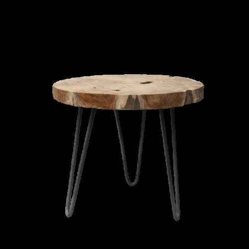 teak-root-table-rond-metaalframe