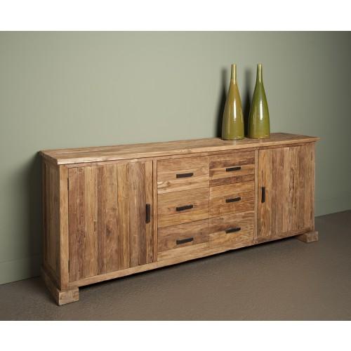 lorenzo-dressoir-220-cm-oud-teak-2-deur-6-laden