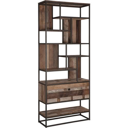 taureg-boekenkast-1-lade-open-vakken-215x90x35-cm-miltonhouse4