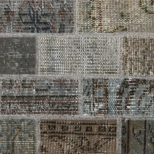 vintage patchwork vloerkleed grey
