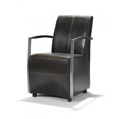 vittoria-stoel-armstoel-eetkamerstoel-op-wielen-buffel-leer