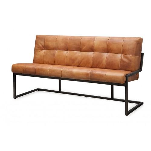 zitbank_bench_calabro_caballero_buffel_leer_metalen_frame