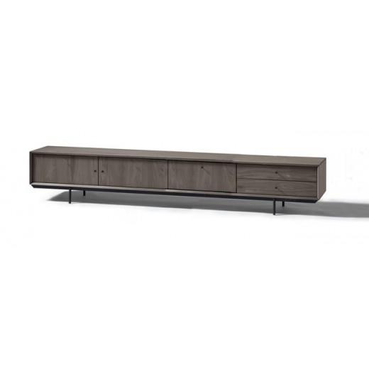 TV dressoir Cloud 200 cm. 2 deuren, klep, 2 laden