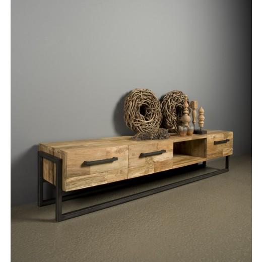 TV dressoir Potenza 3 lade/open vak 200 cm